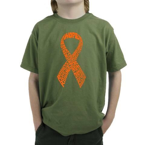 Boy's Word Art T-shirt - MS Ribbon - LA Pop Art