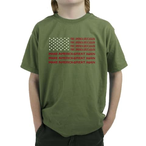 Boy's Word Art T-shirt - MAGA Flag - LA Pop Art
