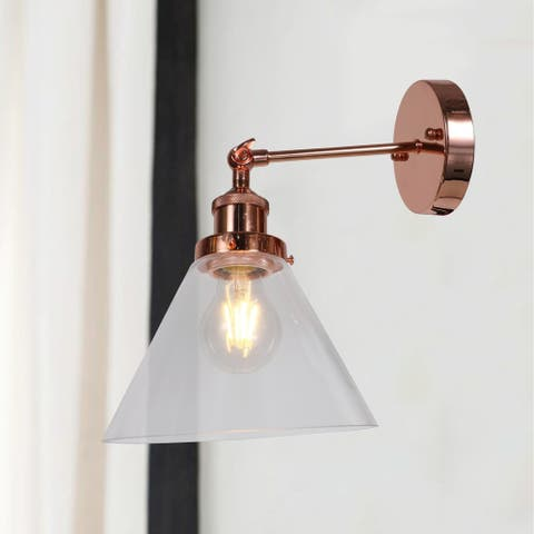 Buris Polished Copper 1-light Wall Sconce