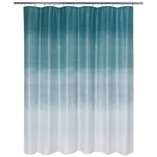 Metallic Ombre Glimmer Shower Curtain Teal