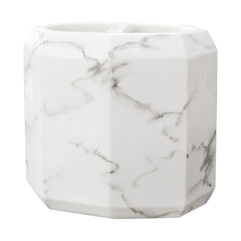Marble Facet Toothbrush Holder