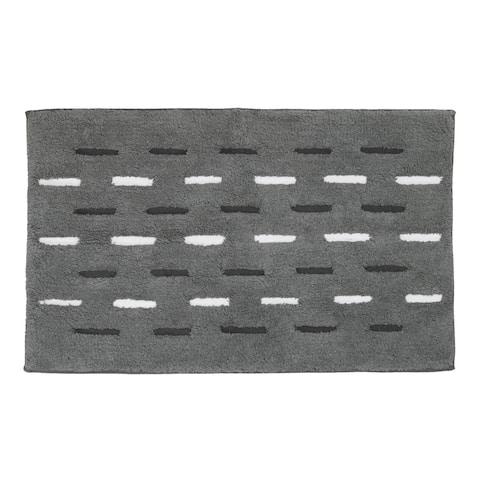 Dash Bath Rug Grey