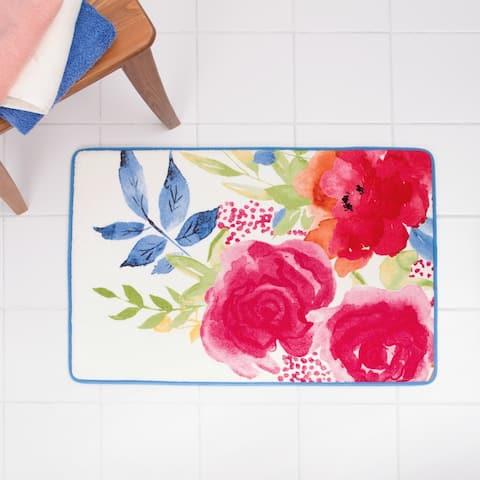 Porch & Den Sora Floral Burst Bath Rug - 20 x 30 - 20 x 30 - 20 x 30