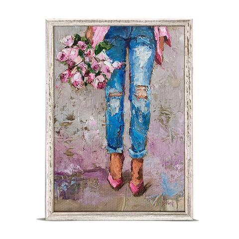 GreenBox 'Figurative - Fancy Floral' by Donna J. West Mini Framed Art - 5 x 7