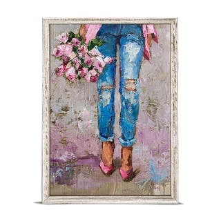 GreenBox 'Figurative - Fancy Floral' by Donna J. West Mini Framed Art - 5 x 7