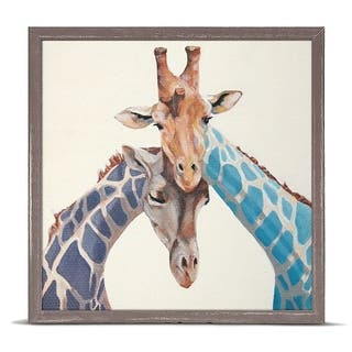 GreenBox 'Giraffes In Love' by Stephanie Jeanne Mini Framed Art - 6 x 6