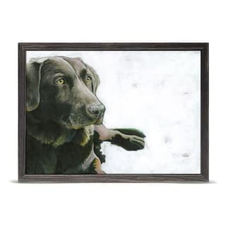 GreenBox 'Content' by Angie Carrier Mini Framed Art - 7 x 5