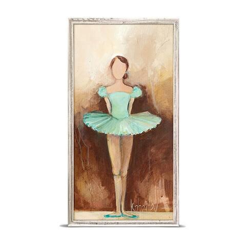 'Belle of the Ballet - Green' by Kristina Bass Bailey Mini Framed Art - 5 x 10