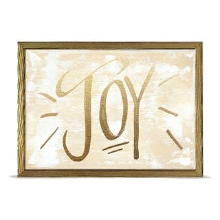 'Holiday Collection - Joy - Gold' by Kasey Hope Mini Framed Art - 7 x 5