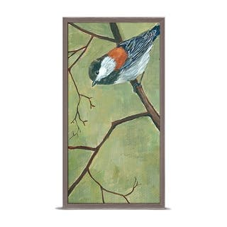 GreenBox 'Chickadee Looking Down' by Cody Blomberg Mini Framed Art - 5 x 10