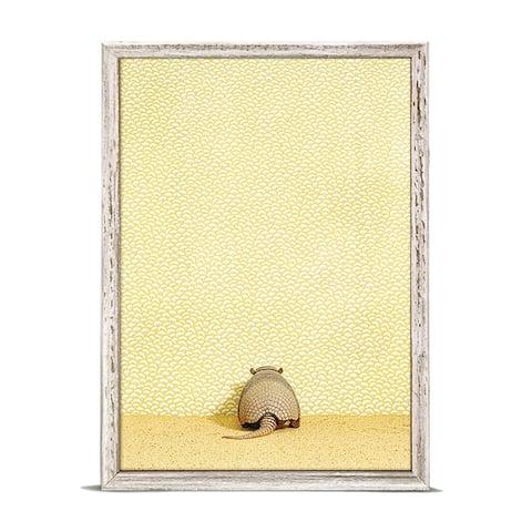 GreenBox 'Armadillo On Yellow' by Catherine Ledner Mini Framed Art - 5 x 7