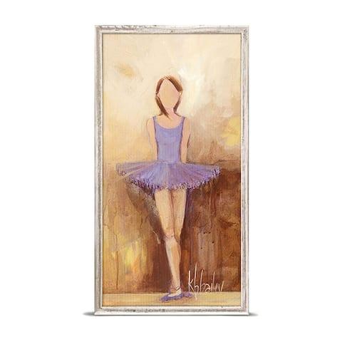 'Belle of the Ballet - Purple' by Kristina Bass Bailey Mini Framed Art - 5 x 10