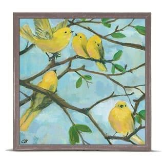 GreenBox 'Five Yellow Warblers' by Cody Blomberg Mini Framed Art - 6 x 6