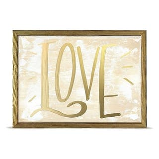 'Holiday Collection - Love - Gold' by Kasey Hope Mini Framed Art - 7 x 5