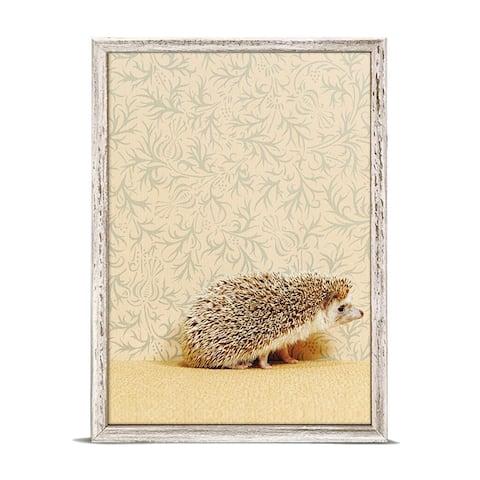 GreenBox 'Hedgehog On Soft Yellow' by Catherine Ledner Mini Framed Art - 5 x 7