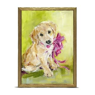 'Holiday Collection - New Puppy' by Susan Pepe Mini Framed Art - 5 x 7