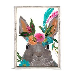Oopsy Daisy 'Boho Hare' by Bari J. Mini Framed Art - 5 x 7
