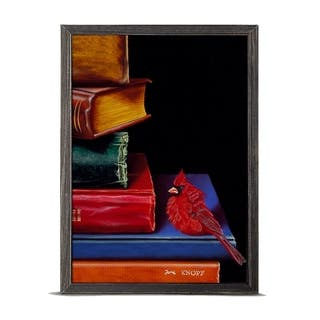 'Literary Roost - Fine Feathered Footnotes' Mini Framed Art - 5 x 7