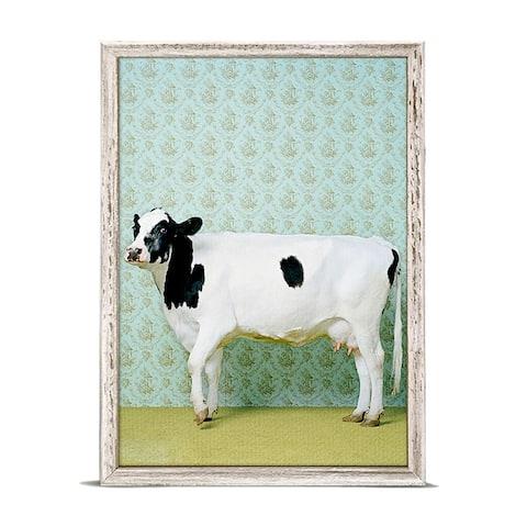 GreenBox 'Holstein Cow' by Catherine Ledner Mini Framed Art - 5 x 7