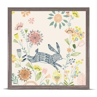 Oopsy Daisy 'Hiding Rabbit' by Bethan Janine Mini Framed Art - 6 x 6