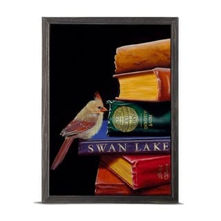 'Literary Roost - Feathers and Fiction' Mini Framed Art - 5 x 7