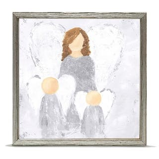 'Holiday Collection - Watch Over Them - Silver' Mini Framed Art - 6 x 6