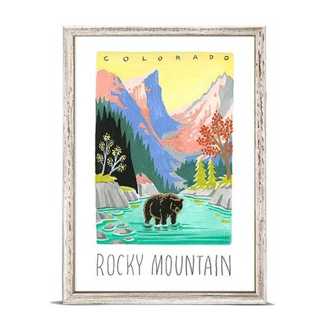 'National Parks - Rocky Mountain' by Angela Staehling Mini Framed Art - 5 x 7