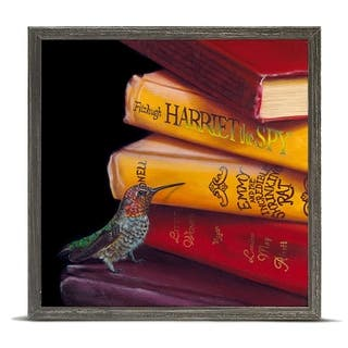 'Literary Roost - Nectar Search' by Camille Engel Mini Framed Art - 6 x 6