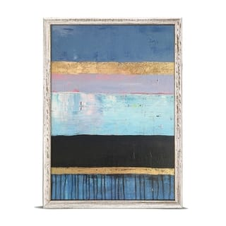 GreenBox 'Azure Stripes' by Mati Rose McDonough Mini Framed Art - 5 x 7