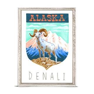 GreenBox 'National Parks - Denali' by Angela Staehling Mini Framed Art - 5 x 7