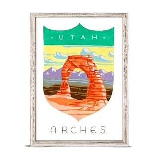 GreenBox 'National Parks - Arches' by Angela Staehling Mini Framed Art - 5 x 7