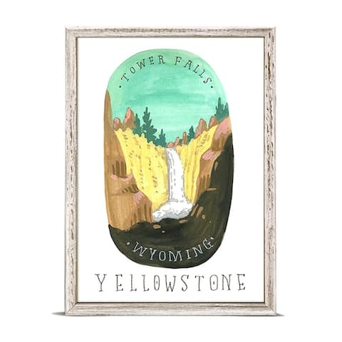 'National Parks - Yellowstone' by Angela Staehling Mini Framed Art - 5 x 7