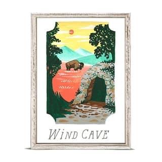 'National Parks - Wind Cave' by Angela Staehling Mini Framed Art - 5 x 7