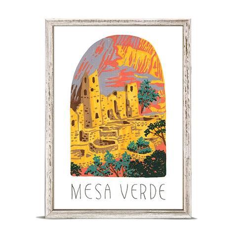 'National Parks - Mesa Verde' by Angela Staehling Mini Framed Art - 5 x 7