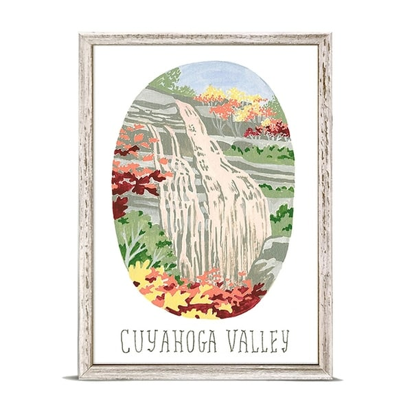 'National Parks - Cuyahoga Valley' by Angela Staehling Mini Framed Art - 5 x 7. Opens flyout.
