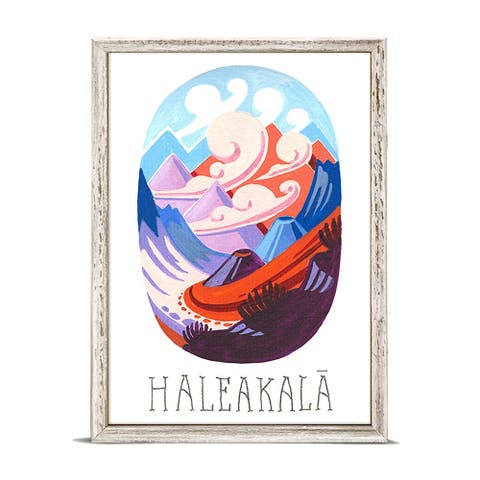 'National Parks - Haleakala' by Angela Staehling Mini Framed Art - 5 x 7