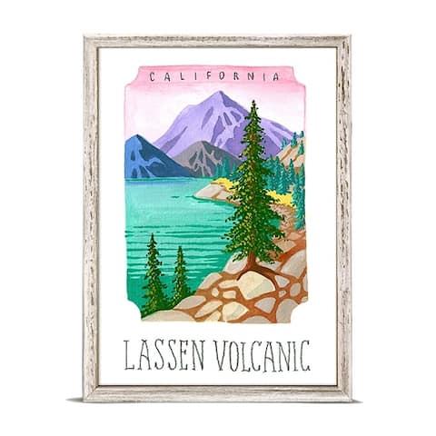 'National Parks - Lassen Volcanic' by Angela Staehling Mini Framed Art - 5 x 7