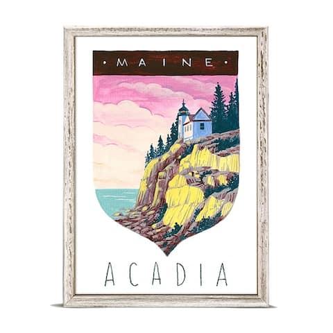 GreenBox 'National Parks - Acadia' by Angela Staehling Mini Framed Art - 5 x 7