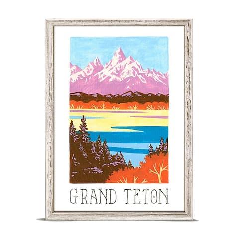 'National Parks - Grand Teton' by Angela Staehling Mini Framed Art - 5 x 7