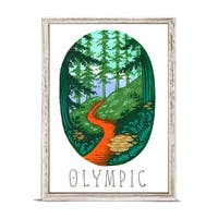 'National Parks - Olympic' by Angela Staehling Mini Framed Art - 5 x 7