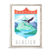 'National Parks - Glacier' by Angela Staehling Mini Framed Art - 5 x 7