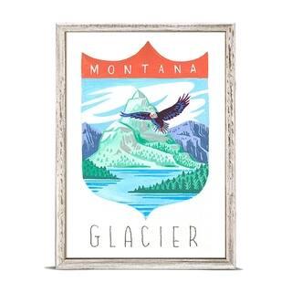 'National Parks - Glacier' by Angela Staehling Mini Framed Art - 5 x 7