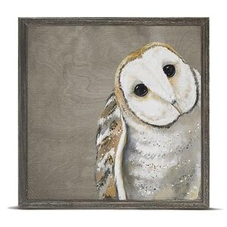 GreenBox 'Sweet Barn Owl' by Karin Grow Mini Framed Art - 6 x 6