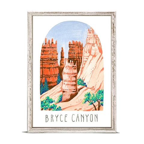 'National Parks - Bryce Canyon' by Angela Staehling Mini Framed Art - 5 x 7