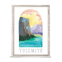 'National Parks - Yosemite' by Angela Staehling Mini Framed Art - 5 x 7