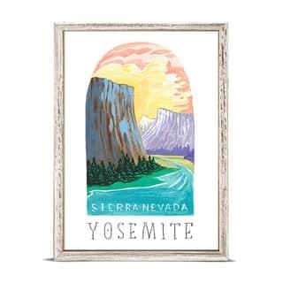'National Parks - Yosemite' by Angela Staehling Mini Framed Art - 5 x 7