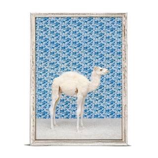 GreenBox 'Camel On Blue' by Catherine Ledner Mini Framed Art - 5 x 7