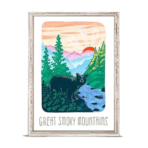 'National Parks - Great Smoky Mountains' Mini Framed Art - 5 x 7