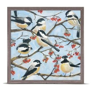 GreenBox 'Seven Chickadees' by Cody Blomberg Mini Framed Art - 6 x 6