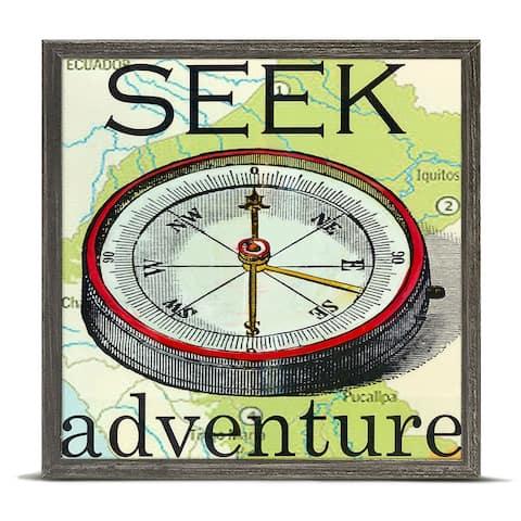 Oopsy Daisy 'Seek Adventure' by Shelly Kennedy Mini Framed Art - 6 x 6